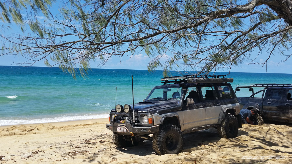 GQ Nissan Patrol Trail Grappler M/T Beach Fraser Island