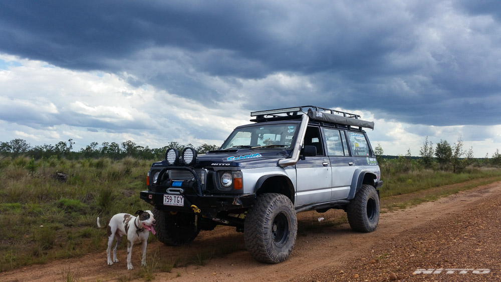 GQ Nissan Patrol With Dog And Clouds